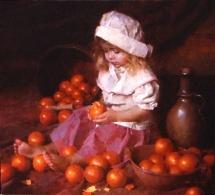"""Tangerines, 30"""" x 27"""""""