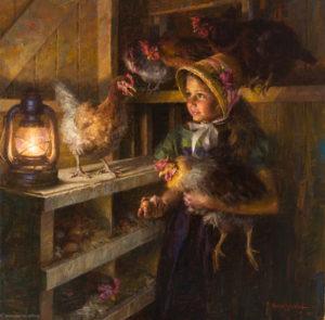 Chicken Girl, 30x30
