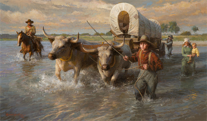 Crossing the Cheyenne River, Summer,1850