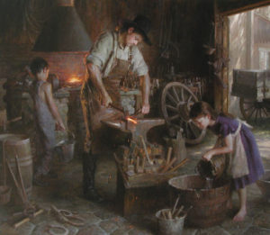Family Trade - WINNER OF THE TRUSTEE PURCHASE AWARD (The Autry Western Heritage Museum acquired the painting for its permanent collection)