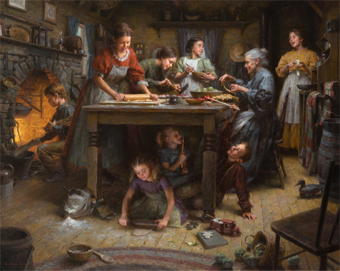 Family Traditions- WINNER OF THE MASTER'S OF THE AMERICAN WEST PURCHASE AWARD (that means the Museum acquired the painting for its permanent collection)Autry Museum Feb 1,2014