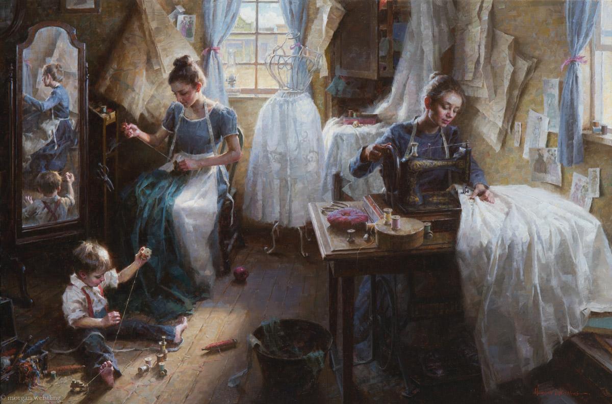 The Dressmaker's Shop 30x45